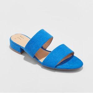 Women's Blue Slide Sandals NWT